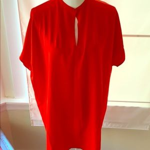 Oak + Fort Red tunic top / mini dress